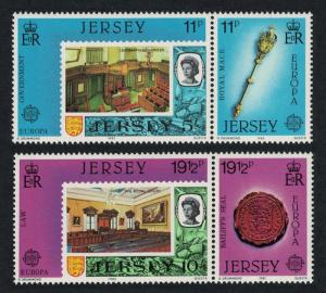 Jersey Europa Great Works of Human Genius 1983 4v in pairs SG#310-313