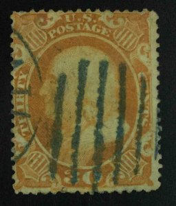 MOMEN: US STAMPS #38 USED LOT #55265