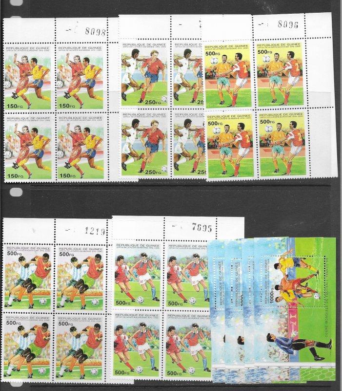 Guinea 1286-91 MNH cpl set x 4, vf, see desc. 2020 CV $48.00