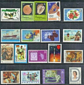 DOMINICA STAMP ASSORTMENT M&MH  SEE SCAN