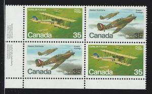 Canada Plate block mnh  Unitrade #  876a