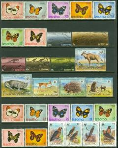 EDW1949SELL : LESOTHO Collection of almost all VF MNH & a few sets Used Cat $304