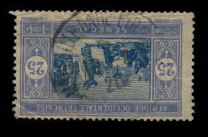 SÉNÉGAL - 1920 - CAD SIMPLE CERCLE MARSEILLE-GARE-ETRANGER SUR N°60 EN ARRIVÉE