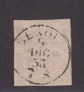 Sardinia Scott # 6 VF-XF used neat cancel with nice color cv $ 900 ! see pic !