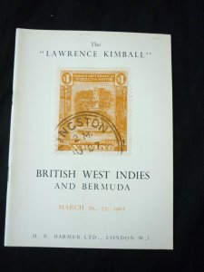HR HARMER AUCTION CATALOGUE 1962 BRITISH WEST INDIES THE 'LAWRENCE KIMBALL'