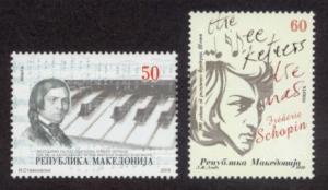 Macedonia Sc# 523-4 MNH Schumann & Chopin