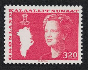 Greenland Queen Margrethe and Map of Greenland 3k.20 1989 MNH SG#122a MI#189