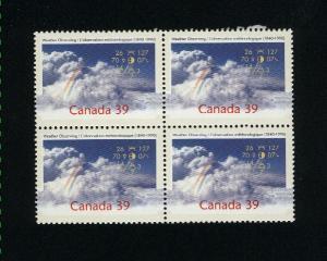 Canada #1287 Mint VF NH Block PD