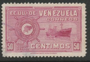 Venezuela 1948-50 50c used South America A4P53F62