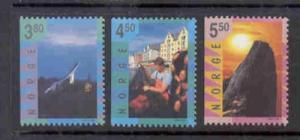 Norway Sc 1191-3 1998 Tourism  stamp set