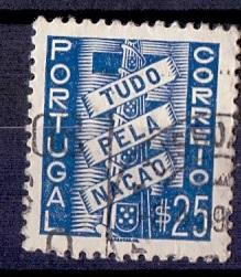 Portugal  #566   used  1935   all for the nation 25c