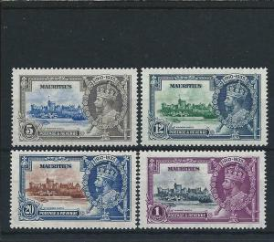 MAURITIUS 1935 SILVER JUBILEE SET MM SG 245/8 CAT £35