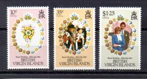 Virgin Islands 406-408 MNH