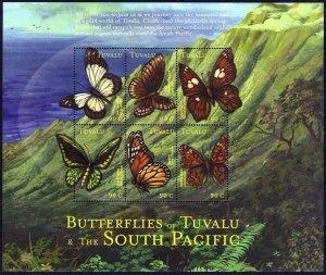 Tuvalu 828 af sheet,MNH.Michel 915-920 klb. Butterflies-2000.Caper white,Monarch