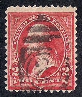 267 2 Cent Fancy Cancel Washington Red Carmine Stamp Used F