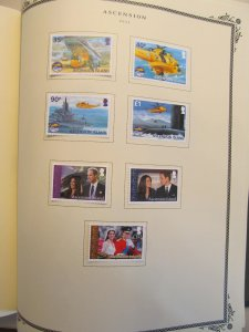 Ascension mint collection in album 1966-2014 mostly complete CV $2445