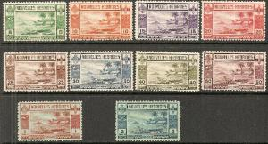 1938 New Hebrides French Scott 55-64 Beach Scene MNH/MLH