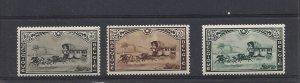 Belgium, B166-B168, Stagecoach Semi-Postal Singles, MNH