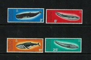 British Antarctic Territory: 1977 Whale Conservation, MNH set