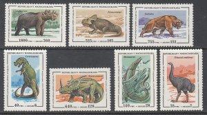 Madagascar 1174-1180 Dinosaurs MNH VF