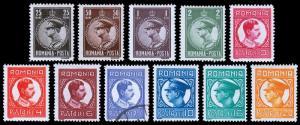 Romania Scott 369-379 (1930) Mint/Used LH VF Complete Set, CV $27.80 B