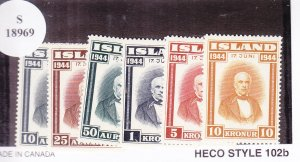 Iceland: Sc #240-245, Complete Set, MH (S18969)