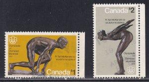 Canada # 656-6577, Montreal Olympics, Used, Half Cat
