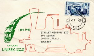 1961 South Africa Sg 183 Centenary of South Africa Railways First Day Cover