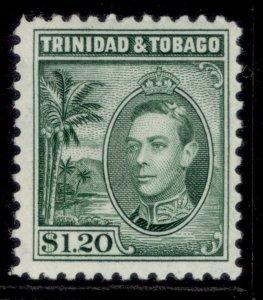 TRINIDAD & TOBAGO GVI SG255, $1.20 blue-green, M MINT. Cat £13.