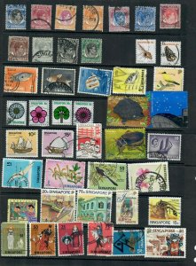 SINGAPORE  MIX X 44 , ALL DIFFERENT, USED  LOT Q