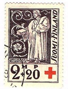 Finland 1933 Scott  B13 cto- scv $4.50 less 50%=$2.25