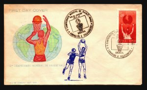 Brazil 1954 Basketball FDC / Nice Cachet / UA - L3616