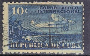 CUBA SC# C5  **USED** 1931  10c   AIRMAIL  SEE SCAN