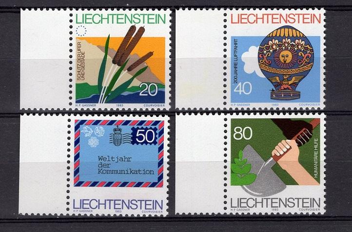 Liechtenstein  #762-765  1983  MNH  protection of shores and coasts