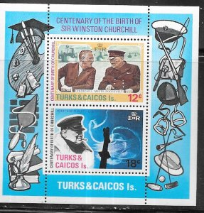Turks & Caicos Islands #298a  Sir winston Churchill (MNH) S/S CV$0.70