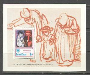 SAINT LUCIA Sc# 477 MNH FVF SS Woman & Child