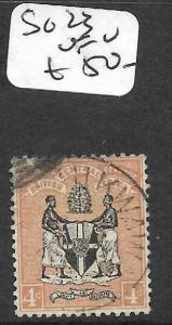 BRITISH CENTRAL AFRICA (P1109B) ARMS 4D  SG23  VFU