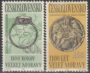 Czechoslovakia #1180-1  MNH F-VF  (V2559)