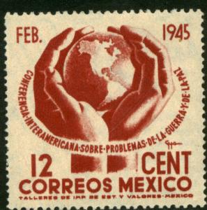 MEXICO 792, 12c Conference on War & Peace. MINT, NH. VF.