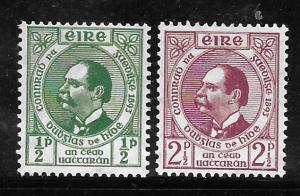Ireland 124-125: Dr Douglas Hyde, MH, F-VF