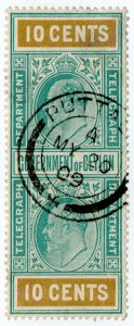 (I.B) Ceylon Telegraphs : 10c (Not Colombo)