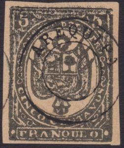PERU AREQUIPA An old forgery of a classic stamp.............................5524