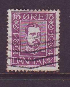 Denmark Sc  168 1924 15 o Christian X stamp used