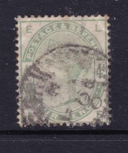 Great Britain the 1883 QV 4d dull green used