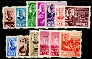 NORTH BORNEO SG356-367, SHORT SET, LH MINT. Cat £47.