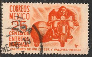 MEXICO E14, 25¢ 1950 SPEC DELIVERY Def 2nd Printing wmk 300. USED. VF. (1472)