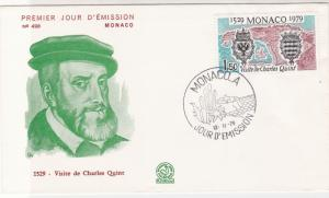Monaco 1979 Celeb. Visit of Charles Quint in 1529 Pic FDC Stamps Cover Ref 26422