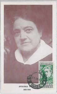 MAXIMUM CARD - CINEMA acting : BRAZIL 1954 - Apolonia Pinto
