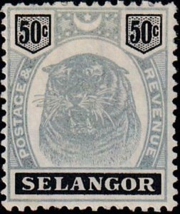 Malaya - Selangor 1895-1899 SC 35 Mint