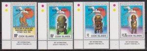 Cook Islands 1992 Scott 1115-1118 Royal Viisit MNH